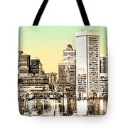 Harbor Lights From Federal Hill - Drawing Fx Tote Bag