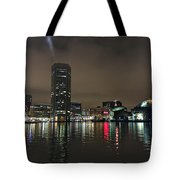 Harbor Lights In Baltimore Tote Bag
