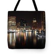 Harbor Nights - Baltimore Skyline Tote Bag