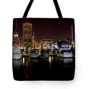 Harbor Nights - Trade Center In Focus Tote Bag