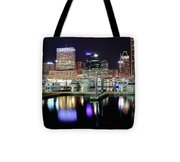 Harbor Nights In Baltimore Tote Bag