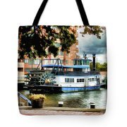 Harbor Park Ferry 5 Tote Bag by Lanjee Chee