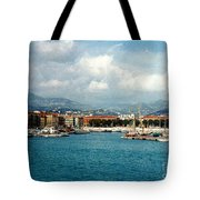 Harbor Scene In Nice France Tote Bag