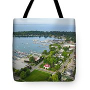 Harbor Springs From Above Tote Bag