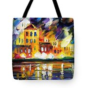 Harbor's Flames Tote Bag