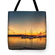 Harbour At Sunset Tote Bag