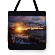 Harbour Bridge Sunset By Kaye Menner Tote Bag