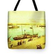 Harbour Parasols Tote Bag by Sarah Vernon