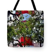 Harbour Town Lighthouse Tote Bag by Lisa Wooten