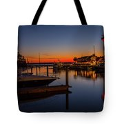 Harbour Town Lighthouse Sunset Tote Bag