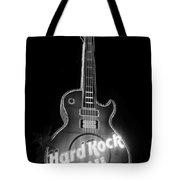 Hard Rock Cafe Sign B-w Tote Bag