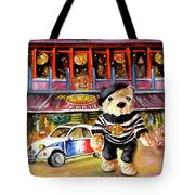 Hard Rock Cafe Teddy Bear From Paris Tote Bag