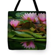 Hardy Pink Water Lilies Tote Bag