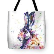 Hare In Grass Tote Bag