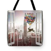 Hare In Nyc Tote Bag