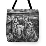 Hare Line  Tote Bag