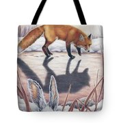 Hare Stands On End Tote Bag
