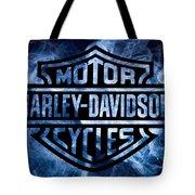 Harley Davidson Logo Blue Tote Bag