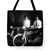 William Harley And Arthur Davidson, 1914 -- The Founders Of Harley Davidson Motorcycles Tote Bag