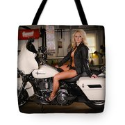 Harley Davidson Motorcycle Babe Tote Bag