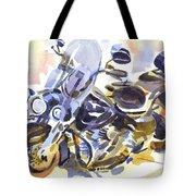 Motorcycle In Watercolor Tote Bag