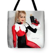 Harley Quinn And Pistol Tote Bag
