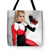 Harley Quinn And Pistol Tote Bag