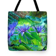 Harmony Of Purple And Green Tote Bag