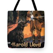 Harold Lloyd In Back To The Woods 1919 Tote Bag