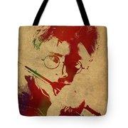 Harry Potter Watercolor Portrait Tote Bag