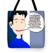 Harry...amused Tote Bag