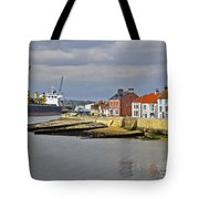Hartlepool Harbour Evening Tote Bag
