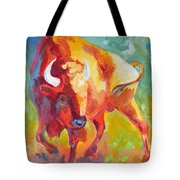 Hartsel Bison In Springtime Tote Bag