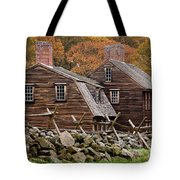Hartwell Tarvern In Autumn Tote Bag by Susan Cole Kelly