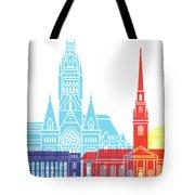Harvard Ma Skyline Pop Tote Bag