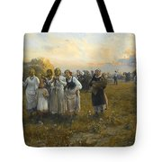 Harvest Festival By Alfred Wierusz-kowalski 1849-1915 Tote Bag