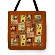 Harvest Market Pumpkins Sunflowers N Red Wagon Tote Bag