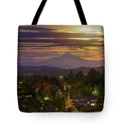 Harvest Moon 2016 Moonrise Over Happy Valley Oregon Tote Bag