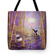Harvest Moon Pandas  Tote Bag