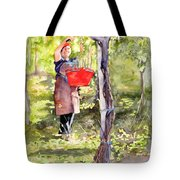 Harvesting Anna's Grapes Tote Bag