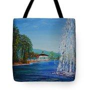 Harveston Lake Fountain Tote Bag