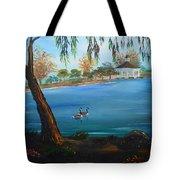 Harveston Lake Geese Tote Bag