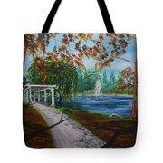 Harveston Lake Path Tote Bag