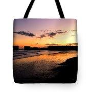 Hastings Harbour Arm At Sunset Tote Bag