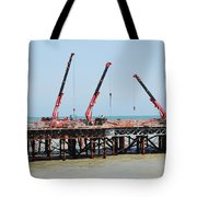 Hastings Pier, England Tote Bag