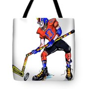 Hat Trick Hockey Player Tote Bag
