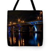 Hathaway Bridge At Night Tote Bag