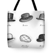 Hats Of A Gentleman Tote Bag by Adam Zebediah Joseph