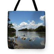 Haulover Canal On The Space Coast Of Florida Tote Bag