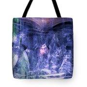Haunted Caves Tote Bag by Linda Sannuti